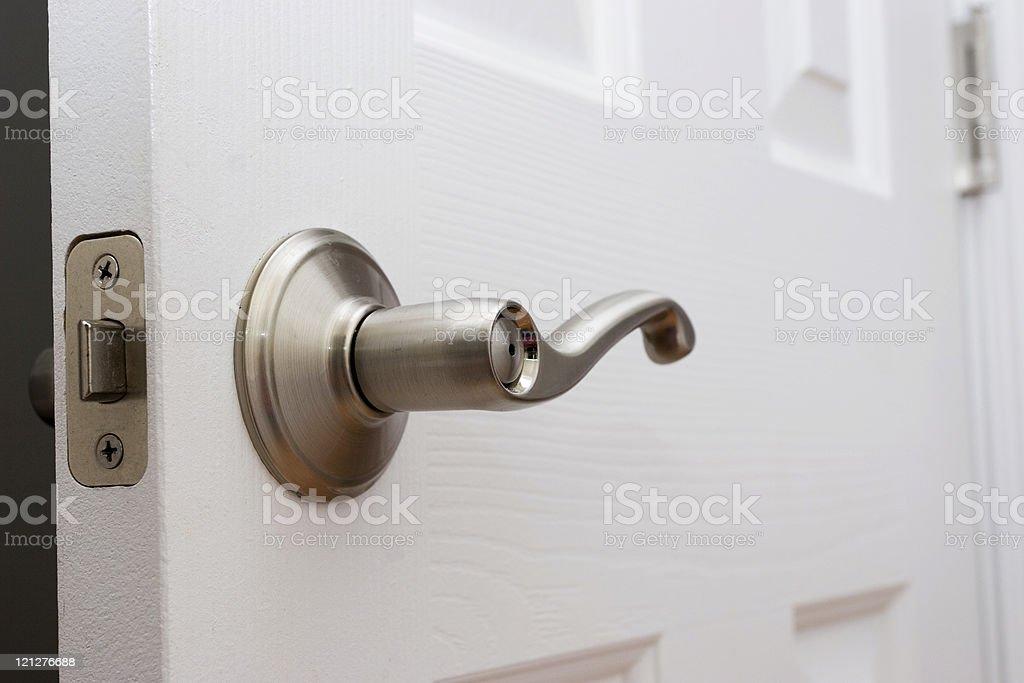 Lever door handle stock photo