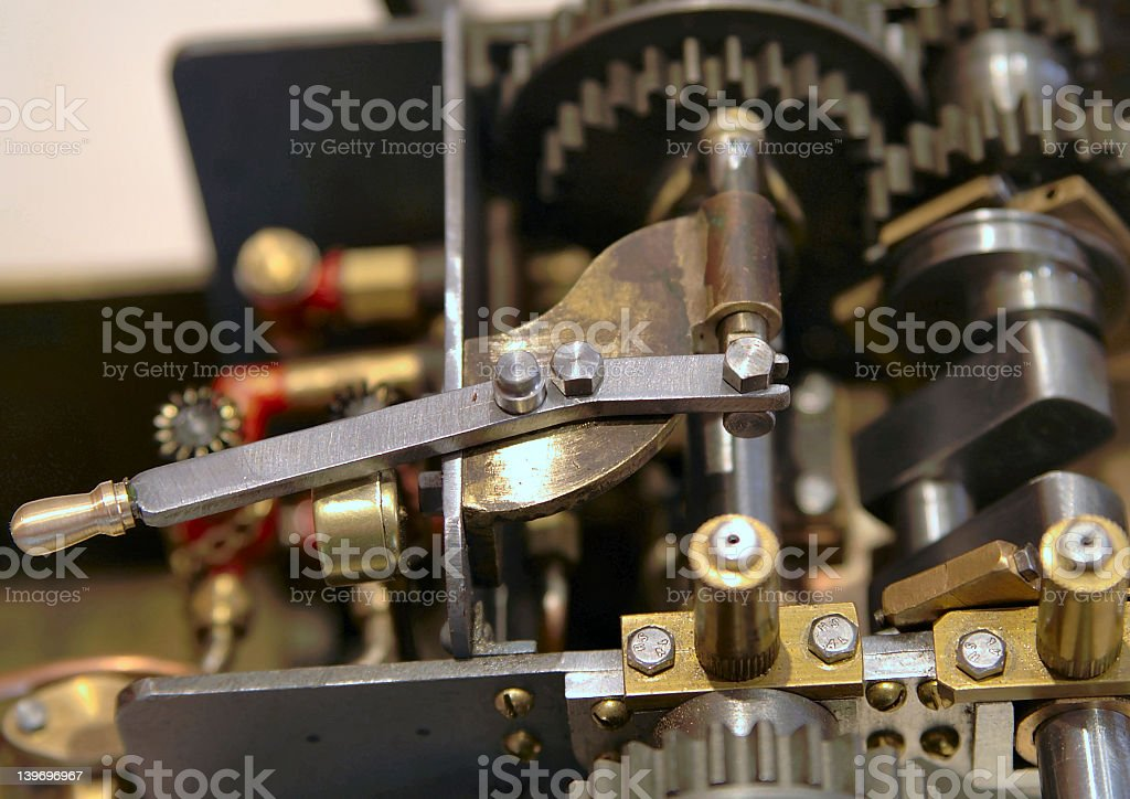 Lever of Power stock photo