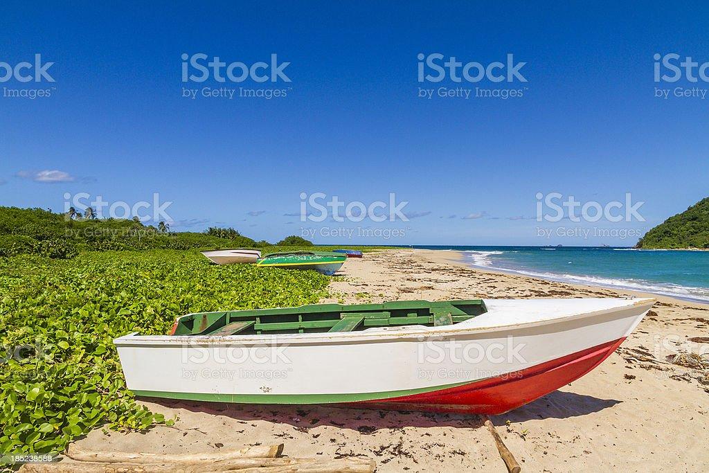 Levera Beach, Grenada W.I. royalty-free stock photo