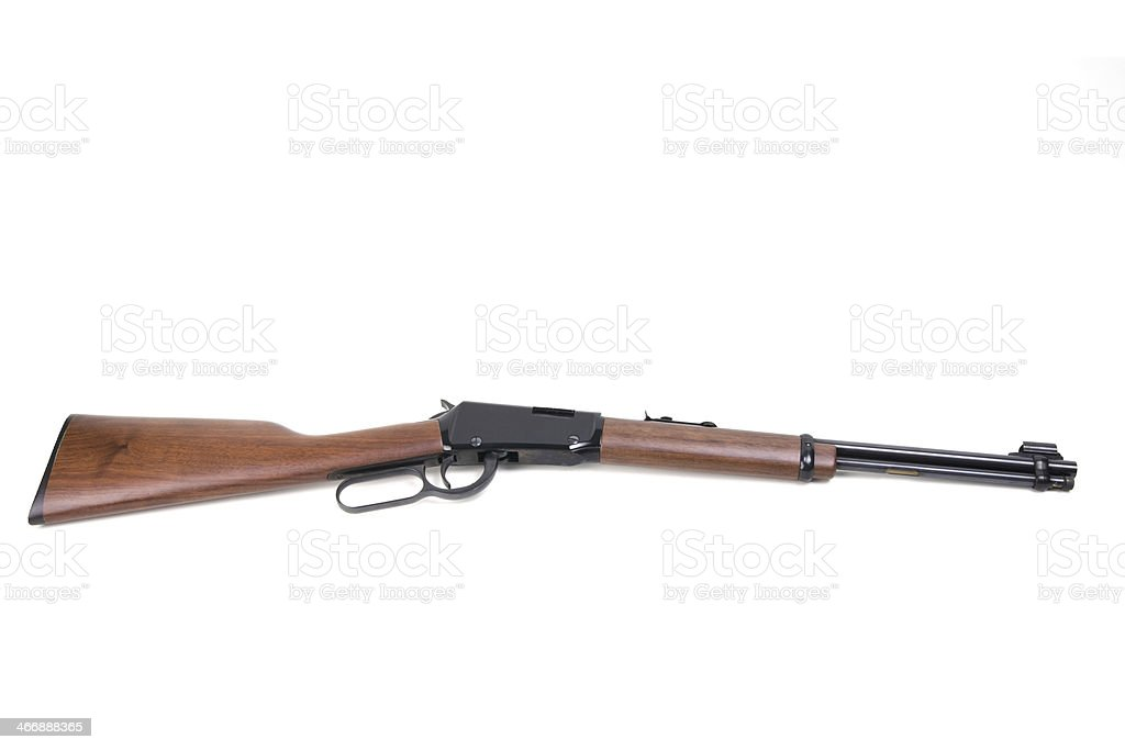 Lever-action rifle royalty-free stock photo