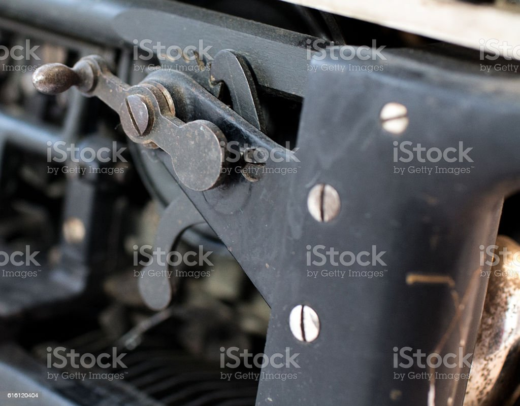 Levers and knobs stock photo