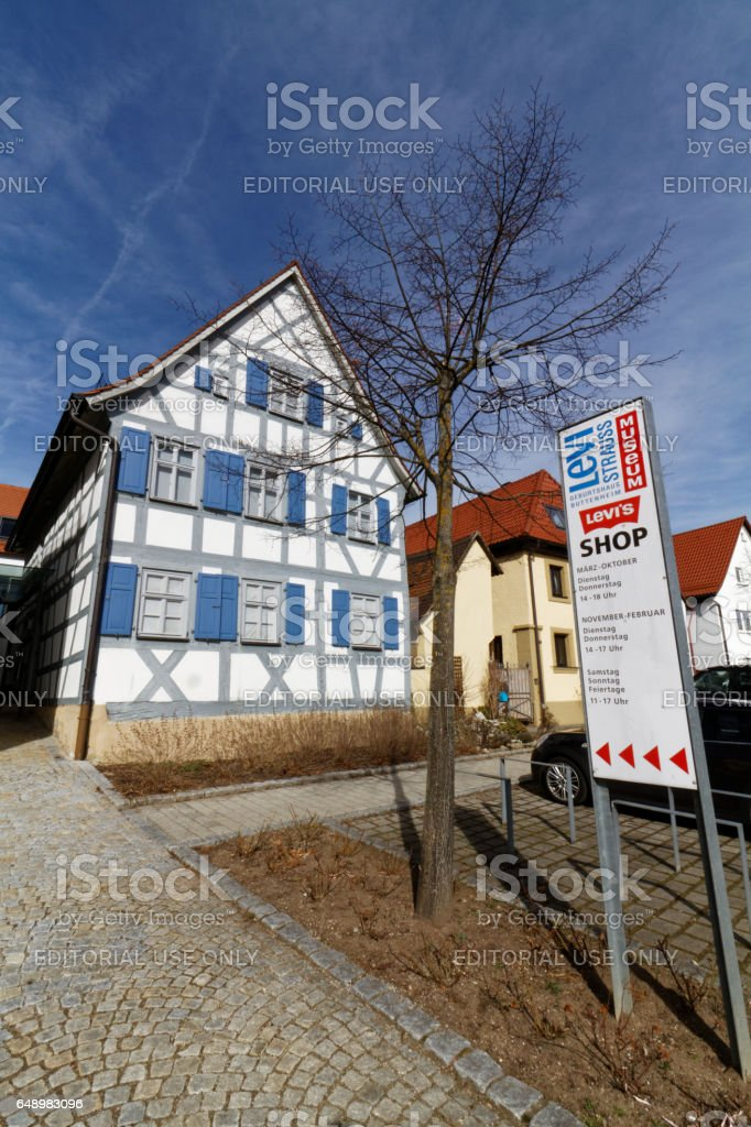 Levi Strauss birth house in Buttenheim - Museum stock photo