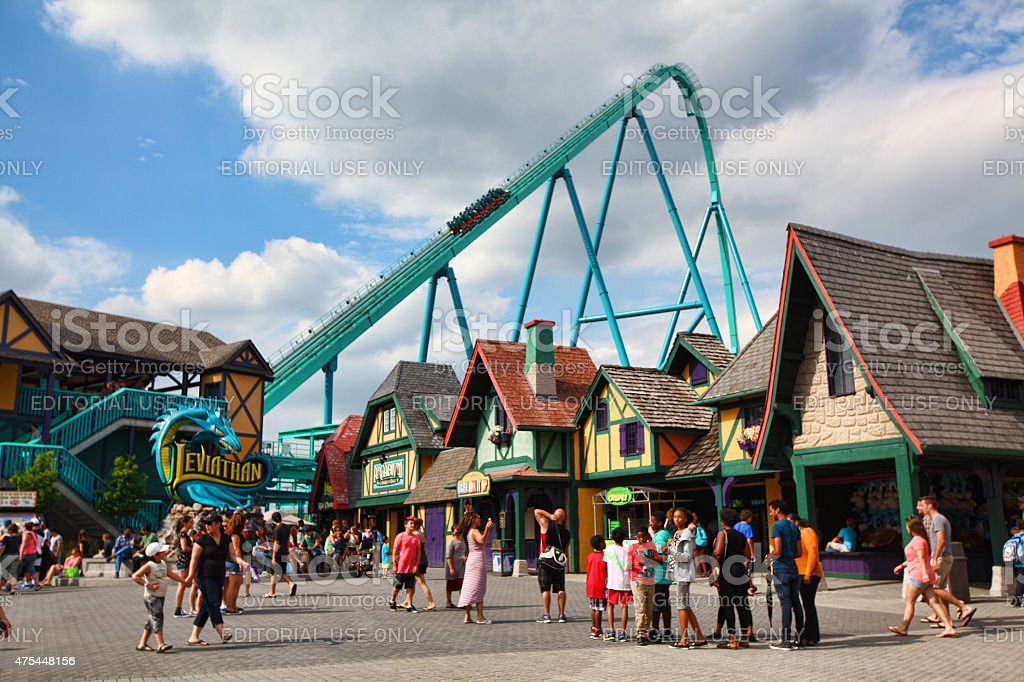 Leviathan roller-coaster at Canada's Wonderland stock photo