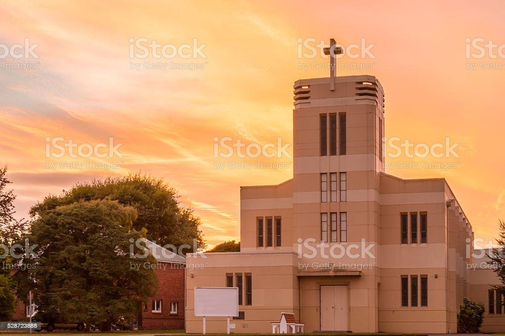 Levin Anglican Church stock photo