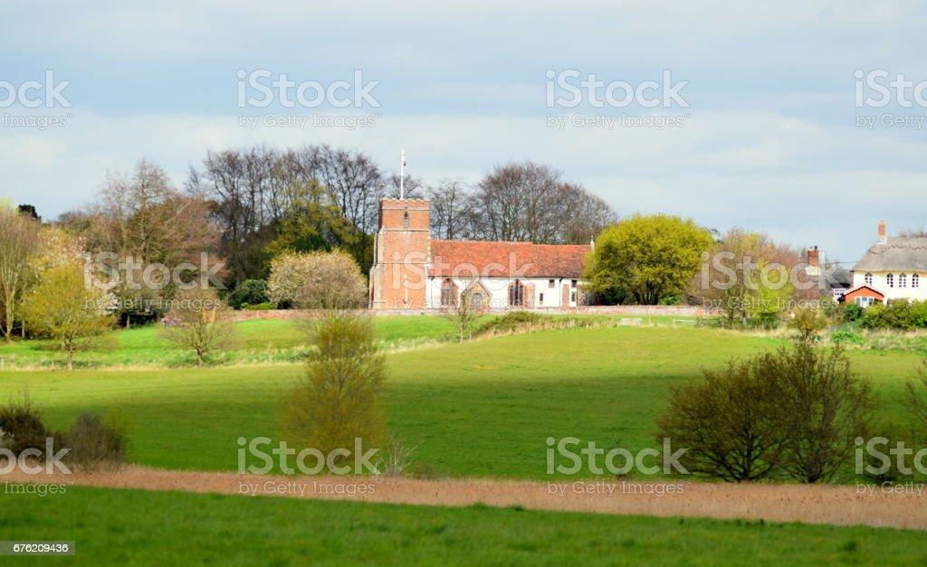 levington church felixstowe suffolk rural countryside landscape stock photo
