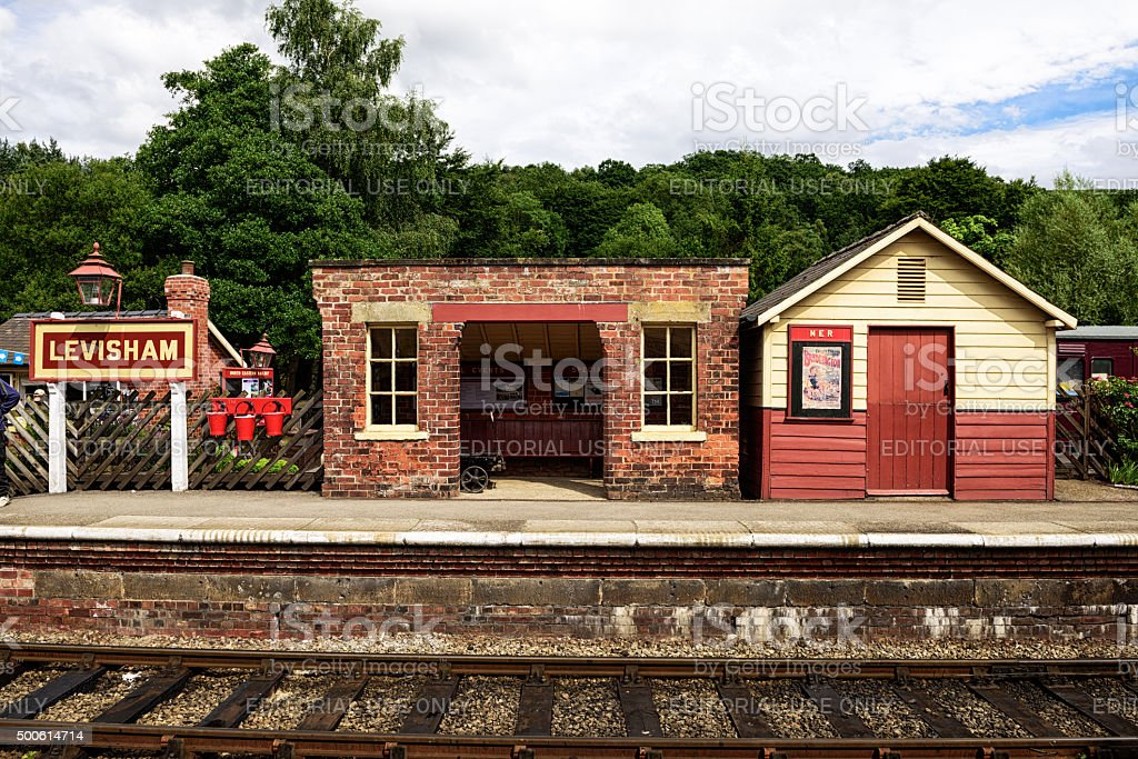 Levisham Railway Station in North Yorkshire stock photo