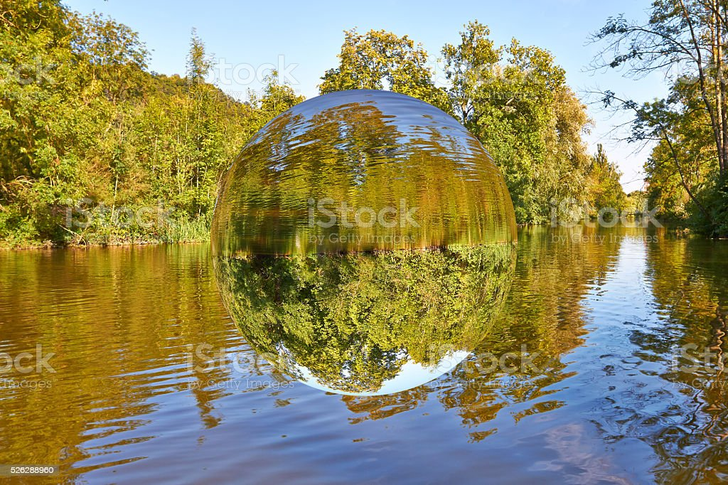 Levitating sphere stock photo