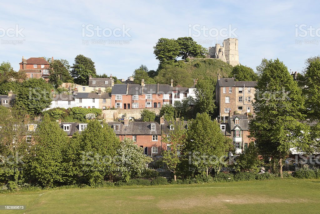 'Lewes Castle, East Sussex England' stock photo