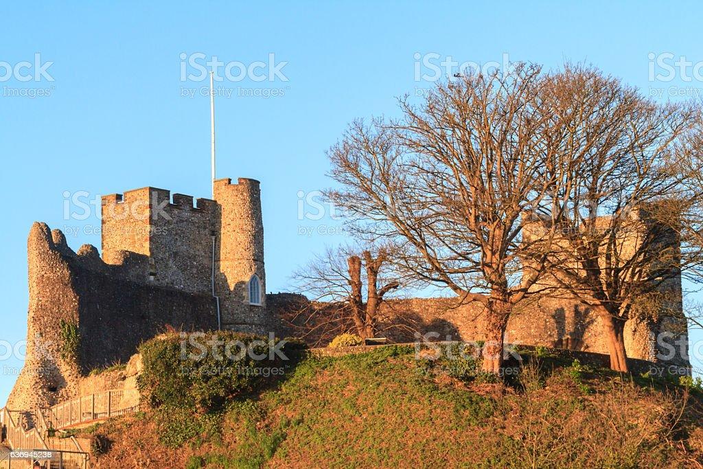 Lewes Castle stock photo