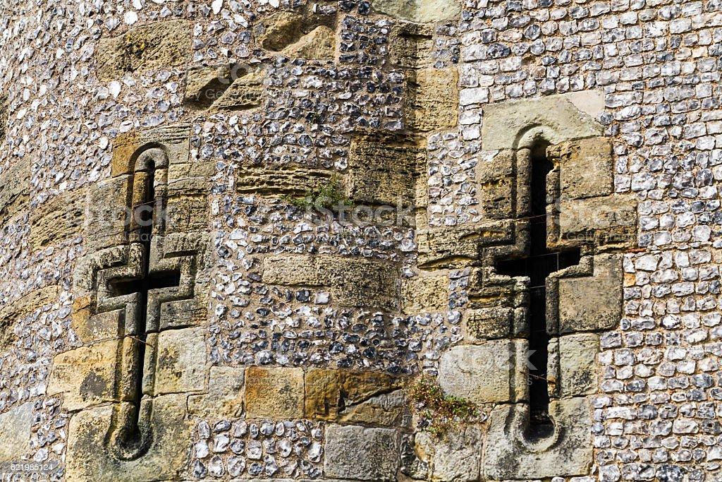 Lewes Castle Walls stock photo