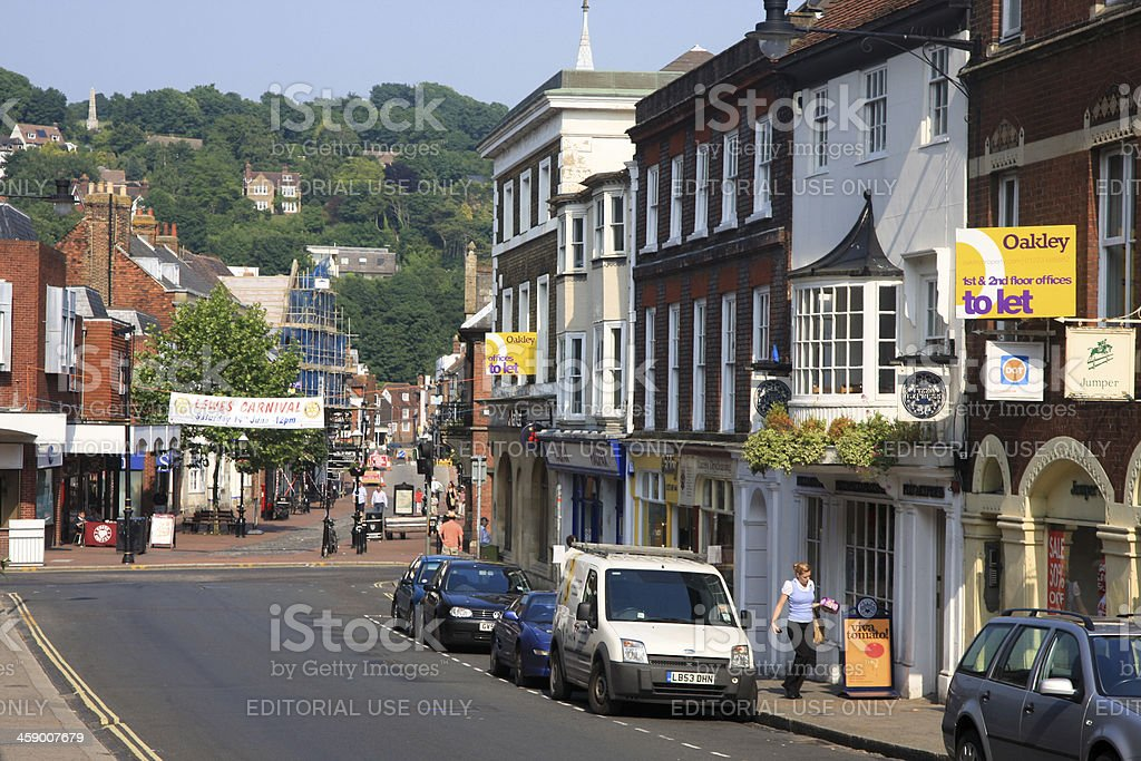 Lewes in East Sussex, England royalty-free stock photo