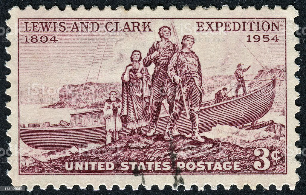 Lewis And Clark Expedition Stamp stock photo