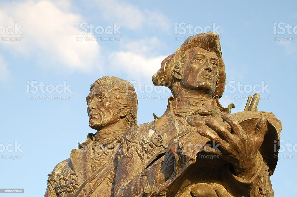 Lewis and Clark monument stock photo