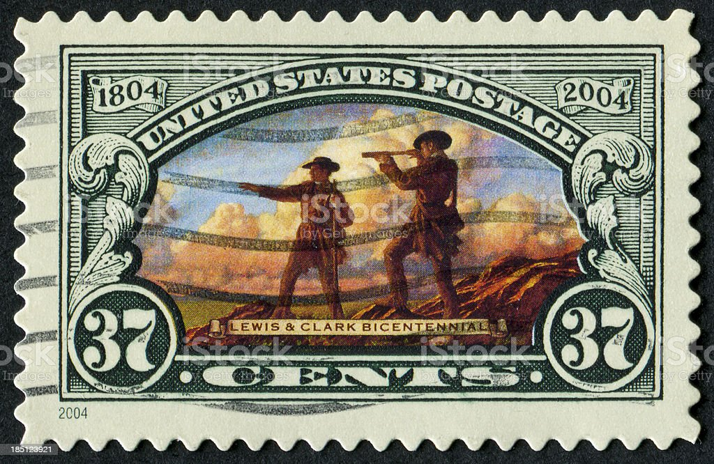 Lewis And Clark Stamp stock photo