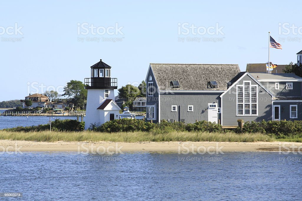 Lewis Bay Lighthouse, Hyannis, Cape Cod, Massachusetts, New England. royalty-free stock photo