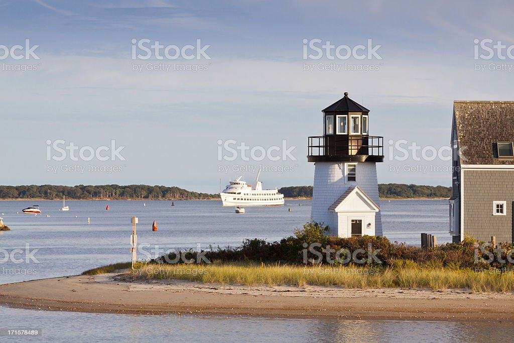 Lewis Bay Lighthouse, Hyannis, Cape Cod, Massachusetts, USA. royalty-free stock photo