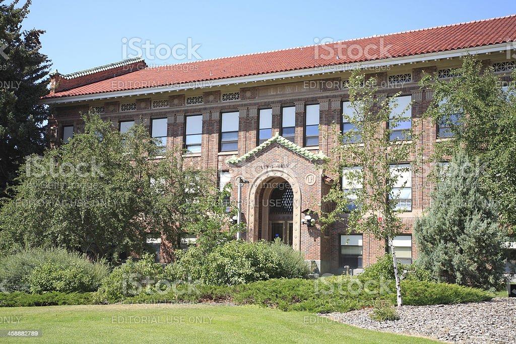 Lewis Hall Montana State University stock photo
