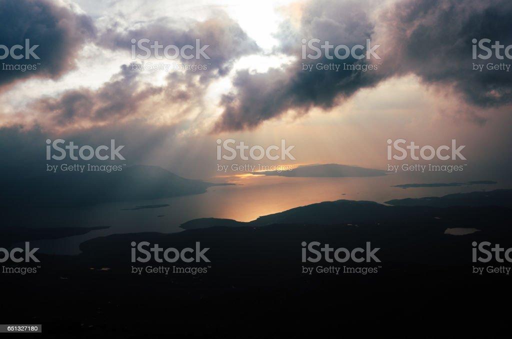 Lewis landscape, Outer Hebrides, Scotland stock photo
