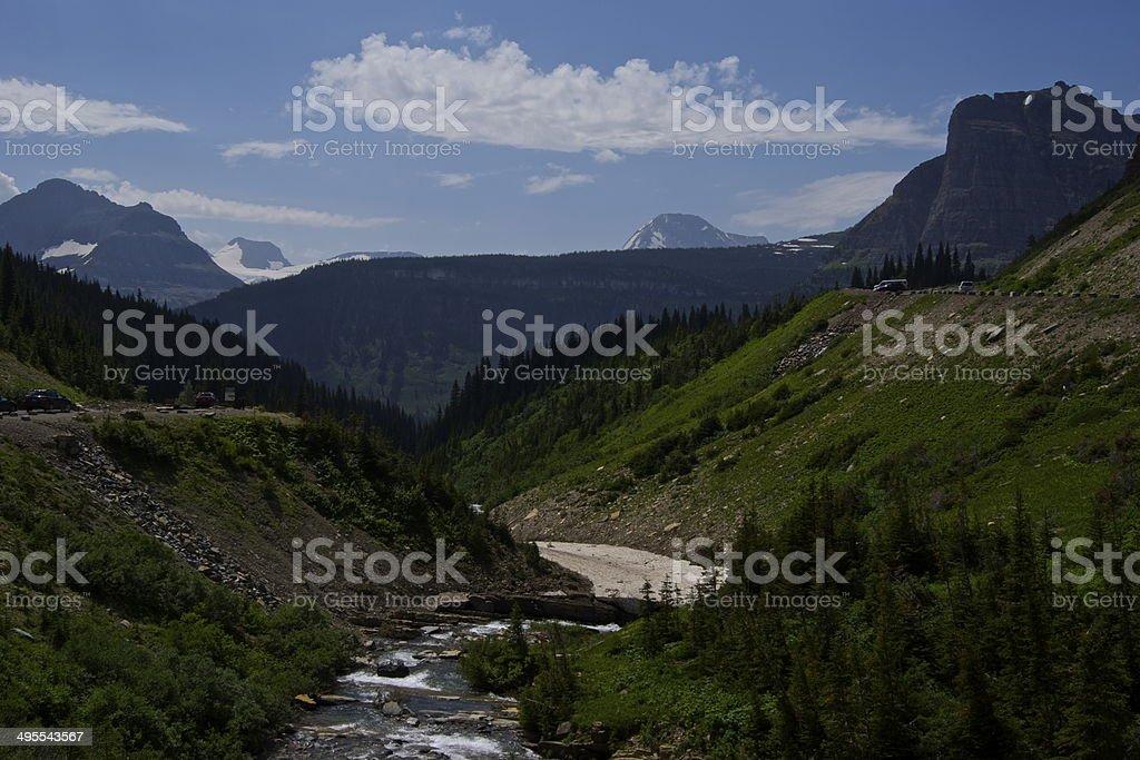 Lewis Range Creek stock photo