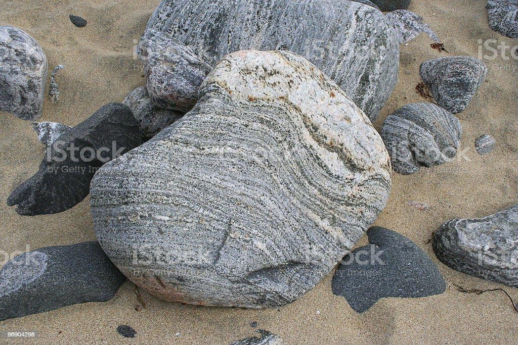 lewisian gneiss stock photo