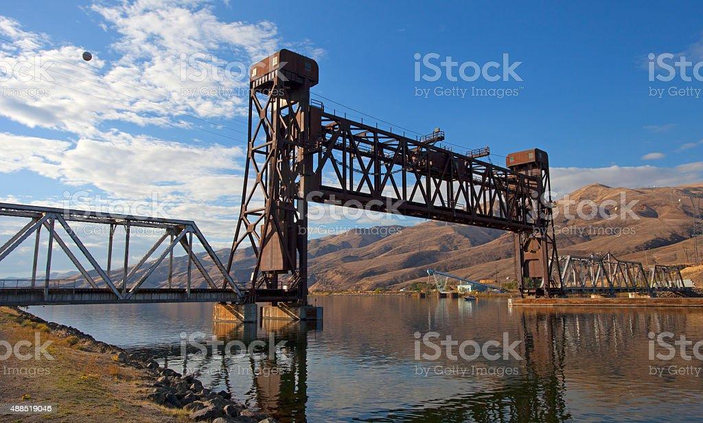 Lewiston bridge stock photo