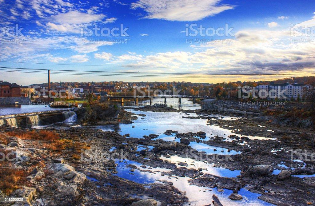 Lewiston Maine stock photo