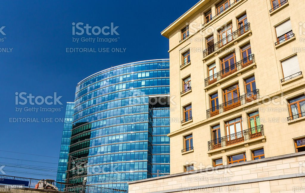 Lex building of the Council of the EU stock photo