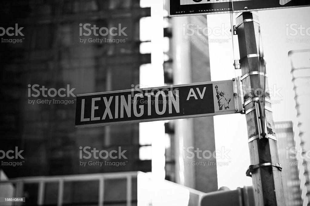 Lexington Ave stock photo