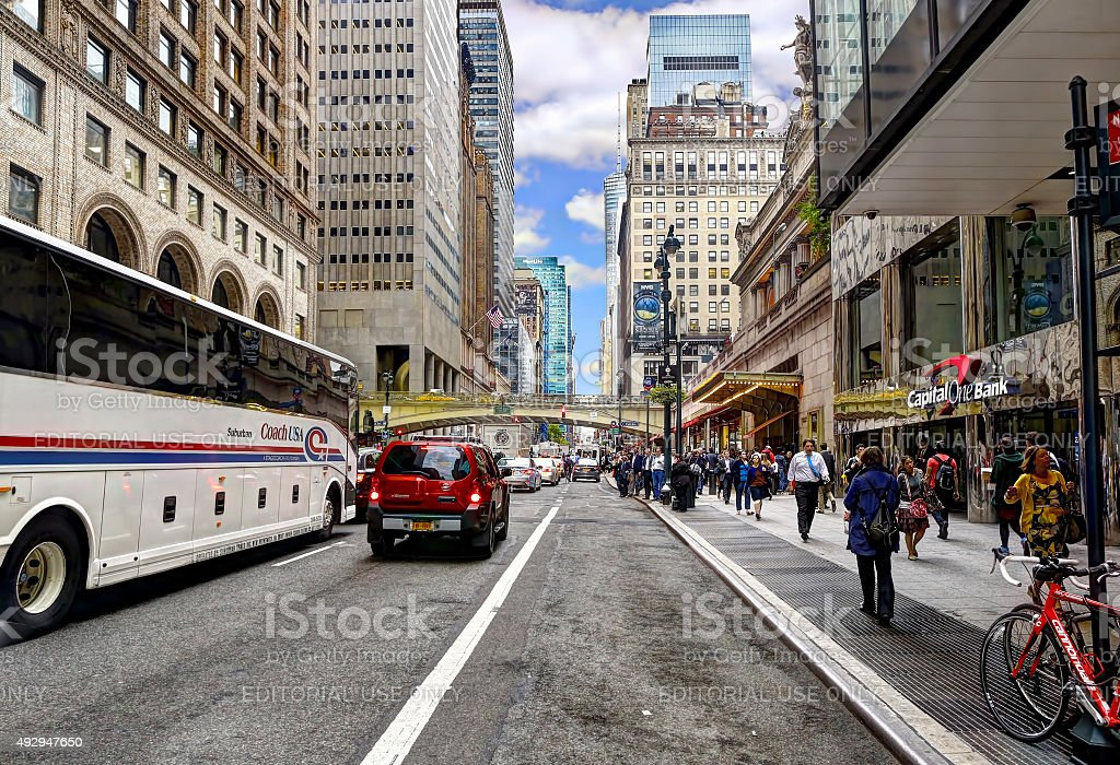 Lexington Avenue in the afternoon stock photo