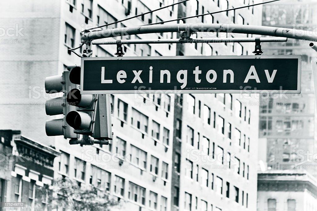 Lexington Avenue - New York City stock photo