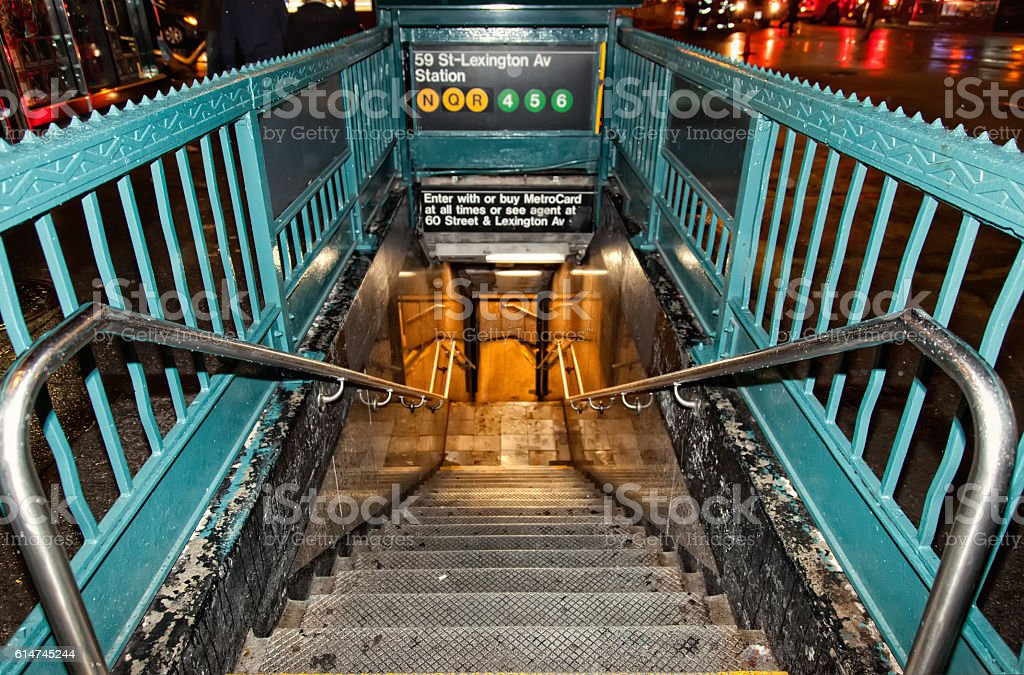Lexington Avenue Subway Station stock photo