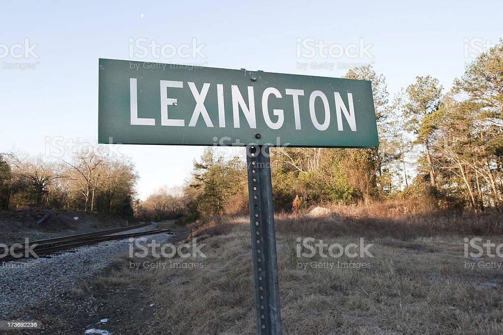 Lexington Sign stock photo