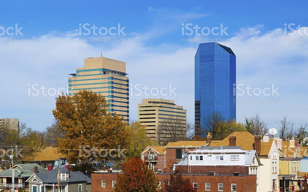 Lexington skyline and neighborhood view stock photo