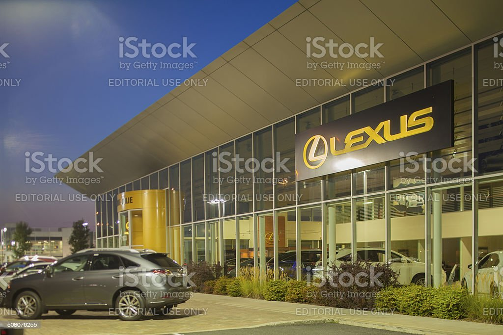 lexus dealership street view royalty-free stock photo