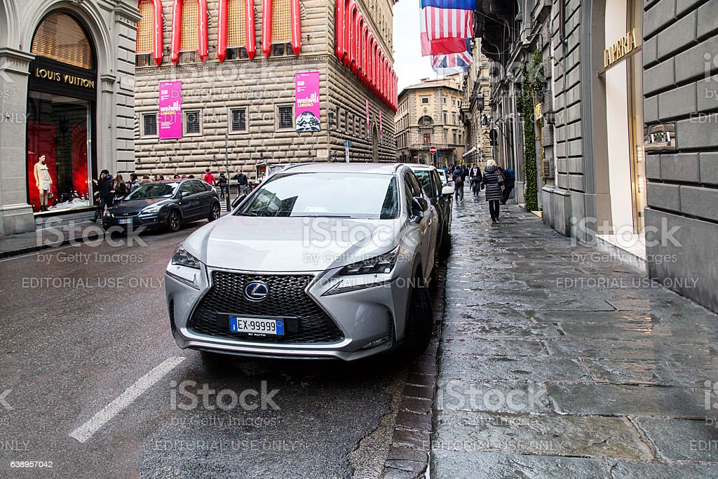 Lexus - Florence, Italy stock photo