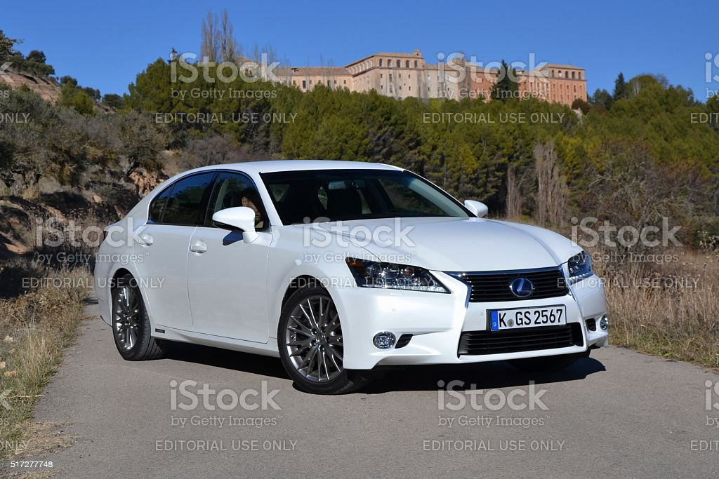 Lexus GS300h stopped on the road stock photo