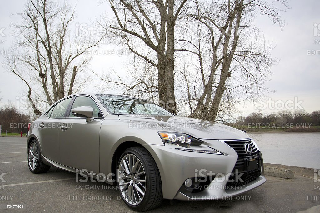 Lexus introduces a new body style for the IS250. stock photo