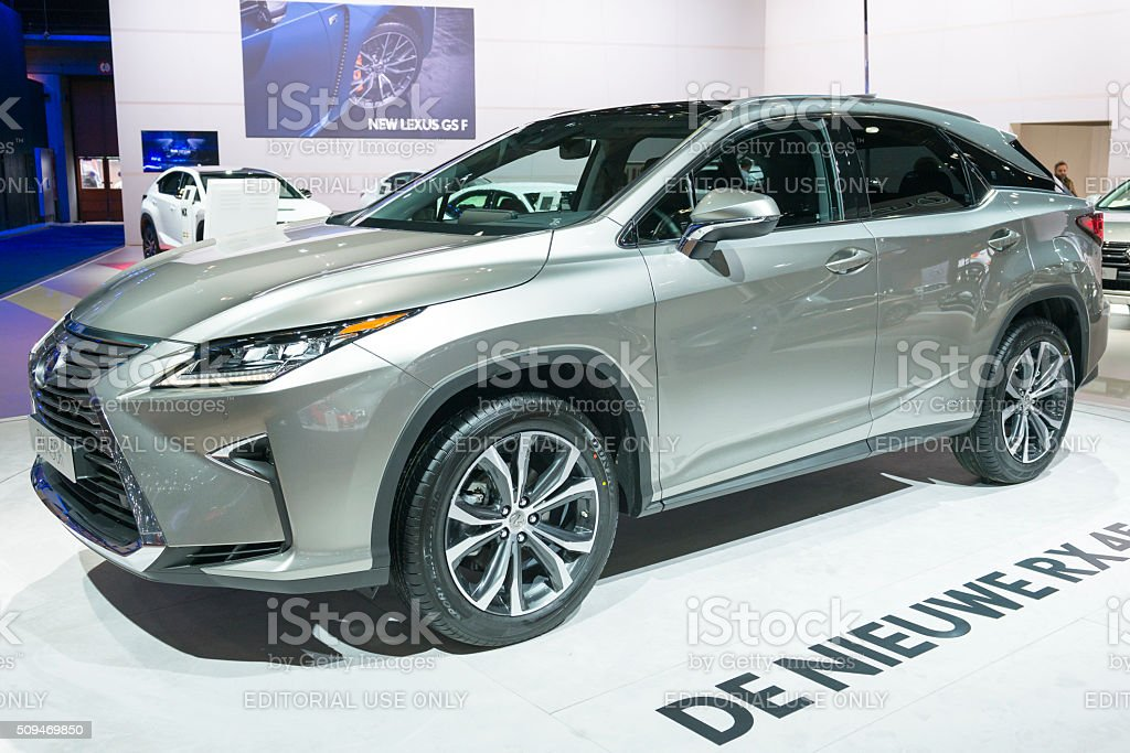 Lexus RX 450h luxury crossover hybrid car stock photo