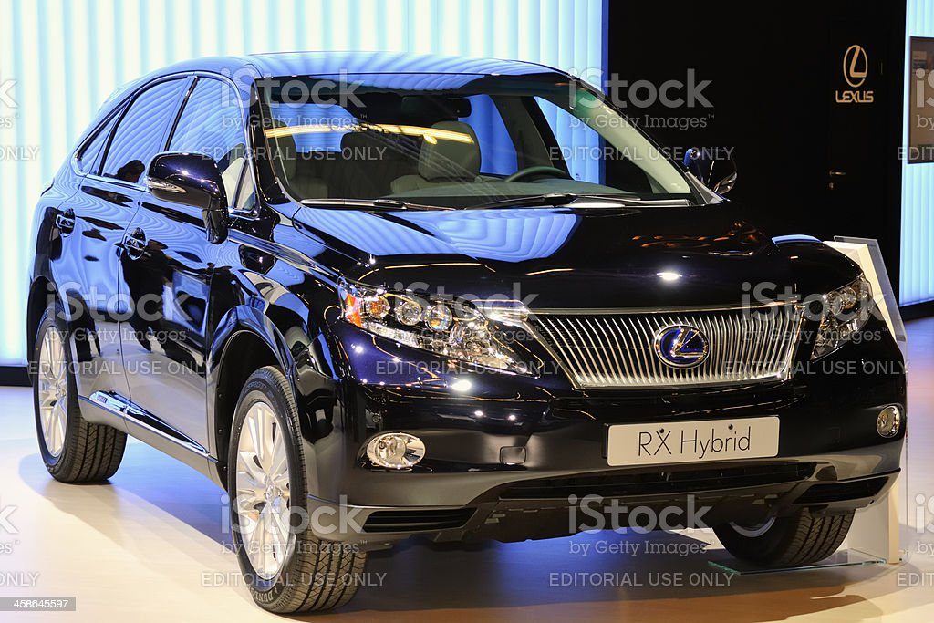 Lexus RX Hybrid crossover SUV front view stock photo