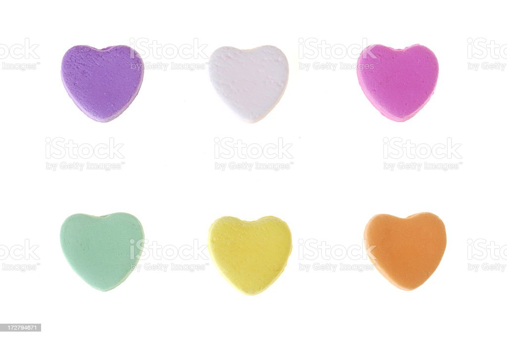 Lg Candy Hearts stock photo