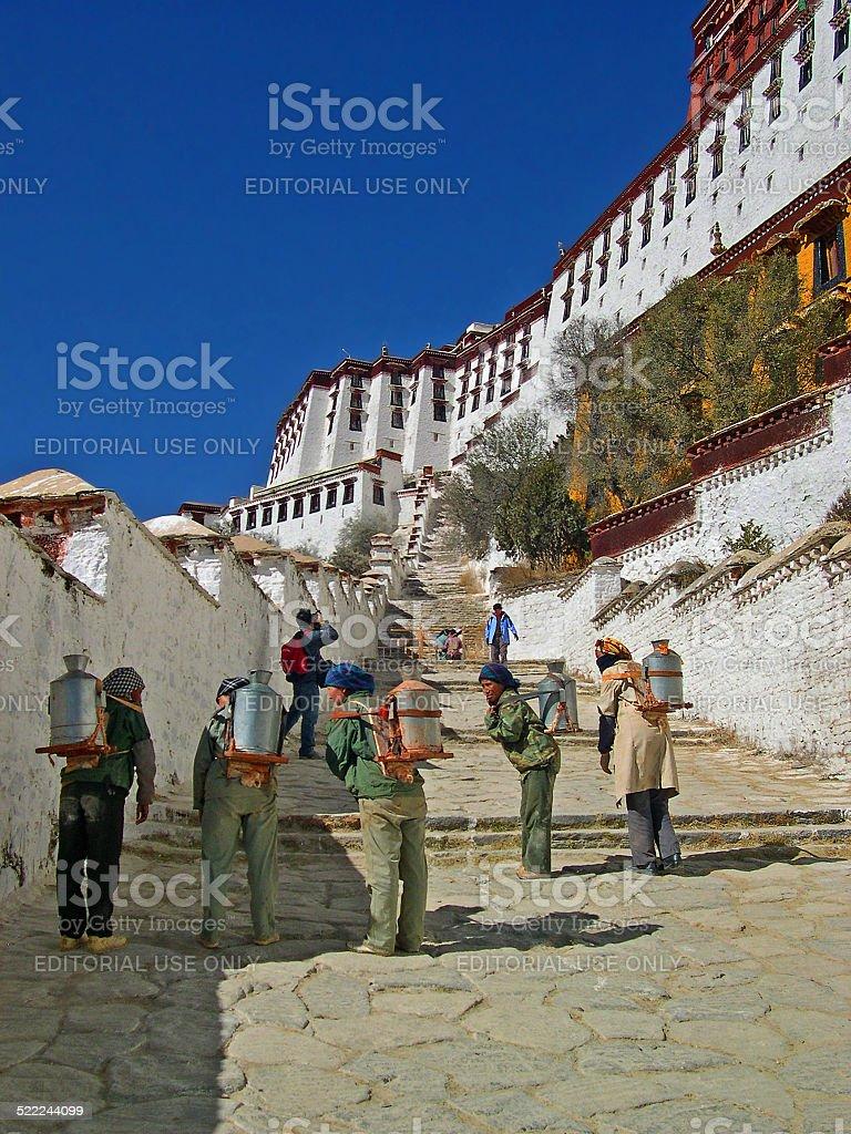 Lhasa, Tibet, China: milk furniture, stock photo