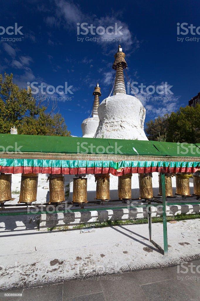 Lhasa, Tibet, tower stock photo