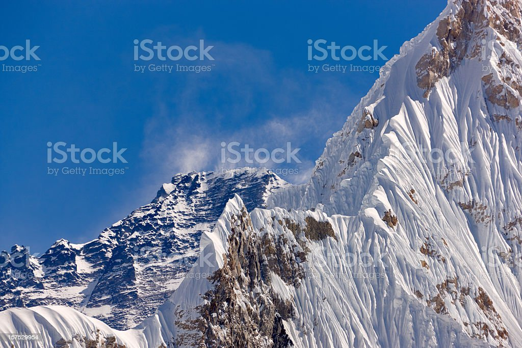 Lhotse. Everest Circuit. Nepal motives. stock photo