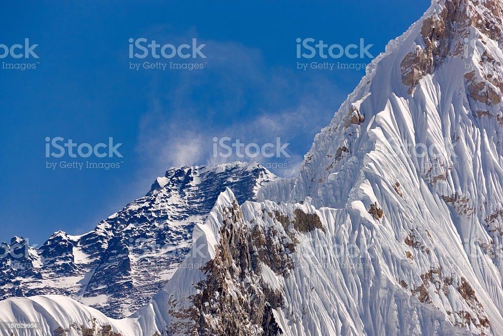 Lhotse. Everest Circuit. Nepal motives. stock photo