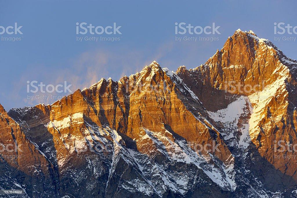 Lhotse. Everest Circuit. Nepal motives royalty-free stock photo