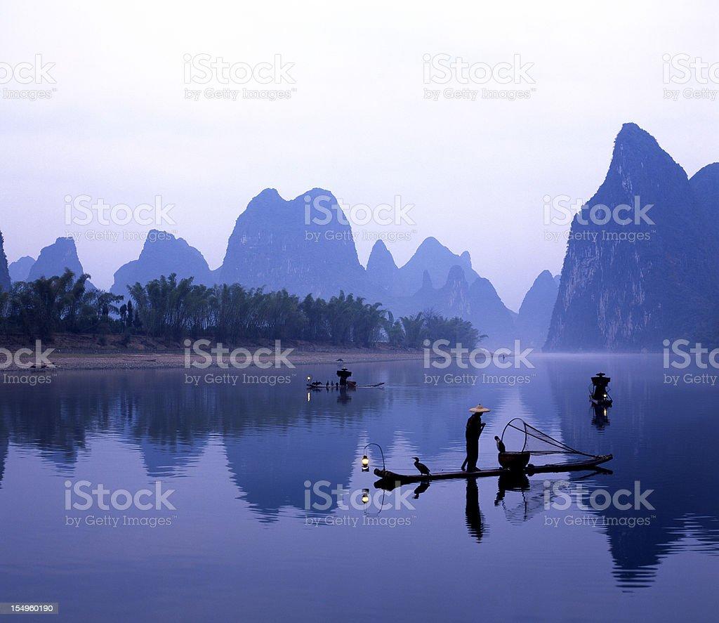 Li River at Dawn royalty-free stock photo