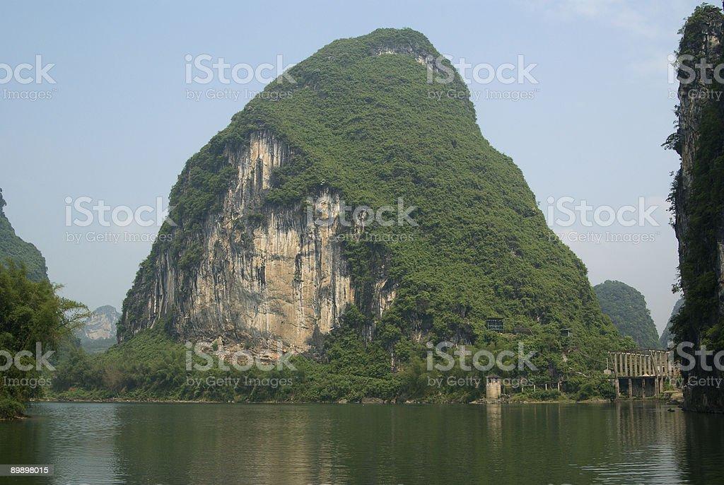 Li river near Yangshuo in Guangxi province royalty-free stock photo