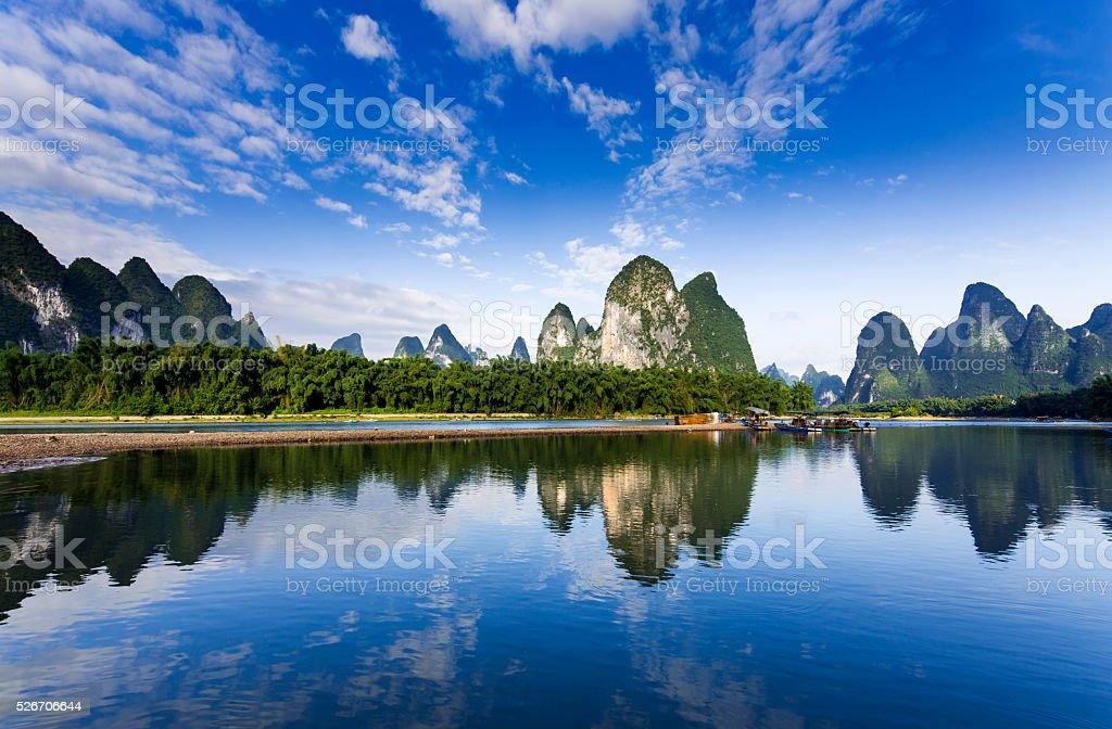 Li River of Guangxi, China stock photo