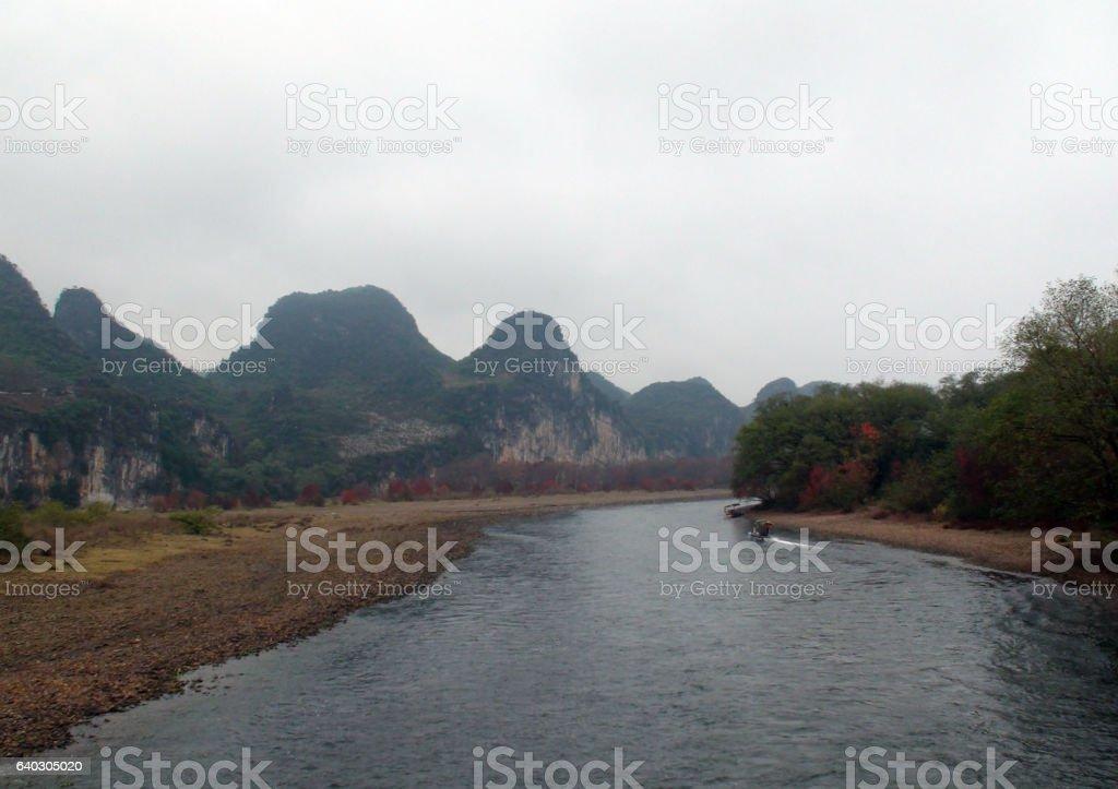Li River Scenery In Guangxi China.East Asia stock photo