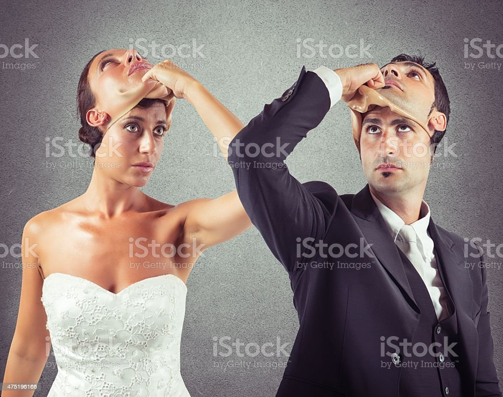 Liar marriage stock photo